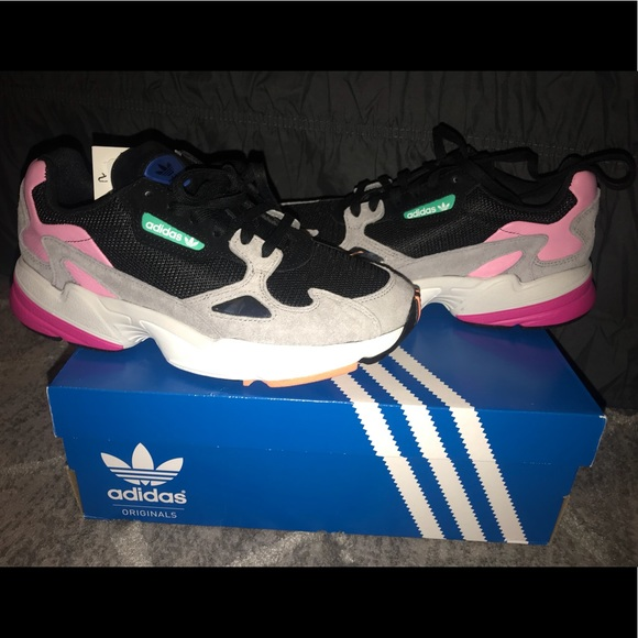 Adidas Falcon Core Black Light Granite NWT